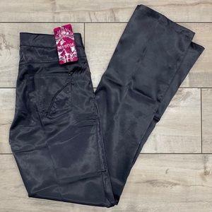 Modiva Grey Satin Silky Flare Pants